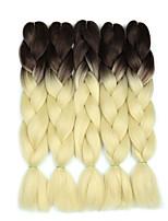 Недорогие -Волосы для кос Кудрявый Спиральные плетенки / Крупные косы / Дреды / Faux Locs Искусственные волосы 5 предметов косы волос Блондинка 24 дюймовый 60 см синтетический / Градиент / Горячая распродажа