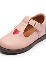 Недорогие -Девочки Обувь Полиуретан Весна & осень Удобная обувь На плокой подошве На липучках для Дети Черный / Красный / Розовый