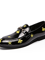 cheap -Men's Formal Shoes Synthetics Spring & Summer / Fall & Winter Casual / British Loafers & Slip-Ons Non-slipping Black