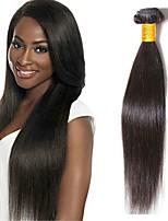 Недорогие -3 Связки Бразильские волосы Перуанские волосы Прямой Не подвергавшиеся окрашиванию Необработанные натуральные волосы Подарки Человека ткет Волосы Сувениры для чаепития 8-28 дюймовый Естественный цвет