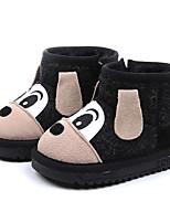 Недорогие -Мальчики / Девочки Обувь Замша Зима Зимние сапоги Ботинки Молнии для Дети (1-4 лет) Черный / Серый