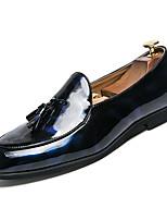 Недорогие -Муж. Комфортная обувь Полиуретан Зима На каждый день Мокасины и Свитер Нескользкий Контрастных цветов Черный / Синий
