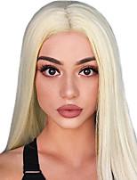 Недорогие -человеческие волосы Remy Лента спереди Парик Бразильские волосы Естественные кудри Блондинка Парик 150% Плотность волос / с детскими волосами / с детскими волосами / Для темнокожих женщин