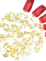 Недорогие -Стразы для ногтей Мини / 3D интерфейс / Специальный дизайн Тату с тотемом Тату с животными Тату со стразами маникюр Маникюр педикюр Металл Мода / Steampunk Рождество / Halloween / Для занятий спортом