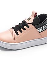 Недорогие -Девочки Обувь Полиуретан Весна & осень Удобная обувь Кеды для Для подростков Белый / Черный / Розовый