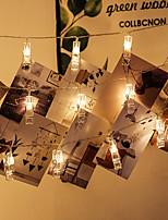 Недорогие -BRELONG® 6м Гирлянды 40 светодиоды SMD 0603 Тёплый белый Водонепроницаемый / Творчество / Для вечеринок Аккумуляторы AA 1шт