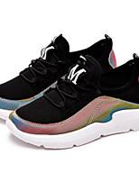 Недорогие -Девочки Обувь Искусственная кожа Осень Удобная обувь Спортивная обувь Беговая обувь для Для подростков Белый / Черный