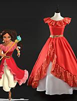 abordables -Princesse Robes Tous Cosplay de Film Rouge Robe Noël Halloween Nouvel an Soie Satin