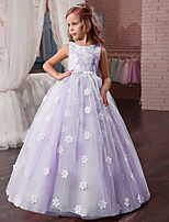 abordables -Princesse Robe Bal Masqué Robe de demoiselle d'honneur Fille Cosplay de Film Robe trapèze Cosplay Halloween Blanche / Violet Claire / Rose Robe Halloween Carnaval Mascarade Tulle Polyester