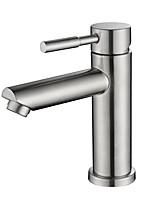 Недорогие -Ванная раковина кран - Новый дизайн Матовый никель Свободно стоящий Одной ручкой одно отверстиеBath Taps