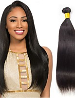 Недорогие -6 Связок Бразильские волосы Малазийские волосы Прямой 8A Натуральные волосы Необработанные натуральные волосы Подарки Косплей Костюмы Головные уборы 8-28 дюймовый Естественный цвет