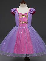 abordables -Sofia Costume de Cosplay Fille Enfant Robes Noël Halloween Carnaval Fête / Célébration Tulle Polyester Tenue Violet Princesse