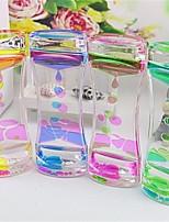 cheap -1 Piece Floating Color Mix Illusion Timer Liquid Motion Visual Slim Liquid Oil Glass Acrylic Hourglass Timer Clock Ornament Desk
