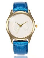 Недорогие -Жен. Нарядные часы Наручные часы Кварцевый Черный / Белый / Синий Повседневные часы Аналоговый Дамы Мода минималист - Коричневый Красный Синий