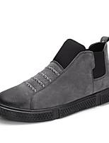 Недорогие -Муж. Комфортная обувь Полиуретан Зима Спортивные / На каждый день Мокасины и Свитер Нескользкий Черный / Серый