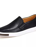 Недорогие -Муж. Комфортная обувь Кожа Осень На каждый день Мокасины и Свитер Доказательство износа Черный / Синий