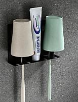 abordables -Gobelet pour brosse à dents Créatif Moderne Acier inoxydable 1 set Brosse à dents et accessoires