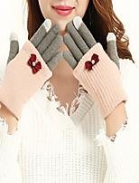 Недорогие -женские перчатки для пальцев с пальцами - цветной блок