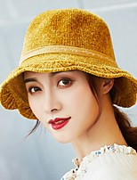 Недорогие -Жен. Активный / Классический Федора / Шляпа от солнца Однотонный