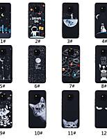 Недорогие -Кейс для Назначение Huawei Huawei Mate 20 / Huawei Mate 20X Матовое / С узором Кейс на заднюю панель Слова / выражения / Пейзаж / Животное Мягкий ТПУ для Huawei Mate 20 lite / Huawei Mate 20 pro