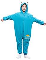 abordables -Pyjamas Kigurumi Dessin-Animé Combinaison de Pyjamas Polaire Bleu Cosplay Pour Garçons et filles Pyjamas Animale Dessin animé Fête / Célébration Les costumes