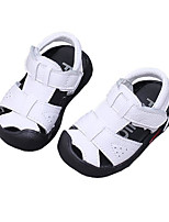 Недорогие -Мальчики / Девочки Обувь Кожа Лето Удобная обувь / Обувь для малышей Сандалии для Дети (1-4 лет) Белый / Черный