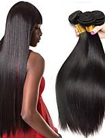 Недорогие -4 Связки Бразильские волосы Прямой Необработанные натуральные волосы 100% Remy Hair Weave Bundles Человека ткет Волосы Сувениры для чаепития Уход за волосами 8-28 дюймовый Естественный цвет