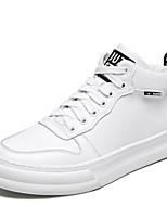 Недорогие -Муж. Комфортная обувь Микроволокно Зима Кеды Белый / Черный