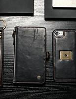 Недорогие -CaseMe Кейс для Назначение Apple iPhone 8 / iPhone 7 Кошелек / Бумажник для карт / Флип Чехол Однотонный Твердый Кожа PU для iPhone 8 / iPhone 7