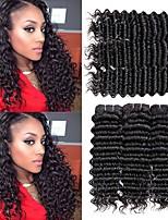 Недорогие -6 Связок Бразильские волосы Монгольские волосы Крупные кудри 8A Натуральные волосы Необработанные натуральные волосы Подарки Косплей Костюмы Головные уборы 8-28 дюймовый Естественный цвет