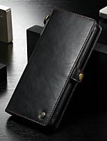 Недорогие -CaseMe Кейс для Назначение Huawei Note 8 Кошелек / Бумажник для карт / Защита от удара Чехол Однотонный Твердый Кожа PU для Note 8