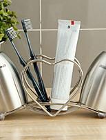 Недорогие -Стакан для зубных щеток Креатив / Оригинальные Modern Нержавеющая сталь 1 комплект Зубная щетка и аксессуары