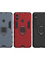 Недорогие -Кейс для Назначение Xiaomi Xiaomi Mi Max 3 Защита от удара / Кольца-держатели Кейс на заднюю панель Однотонный / броня Твердый ПК для Xiaomi Mi Max 3