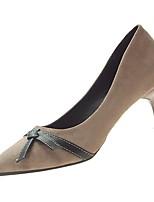 Недорогие -Жен. Полиуретан Зима Обувь на каблуках На шпильке Заостренный носок Черный / Хаки