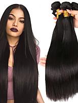 Недорогие -3 Связки Перуанские волосы Прямой 8A Натуральные волосы Необработанные натуральные волосы Человека ткет Волосы Пучок волос One Pack Solution 8-28 дюймовый Нейтральный Ткет человеческих волос