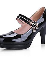 Недорогие -Жен. Лакированная кожа Весна Обувь на каблуках На шпильке Черный / Красный