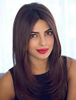 Недорогие -Натуральные волосы Лента спереди Парик Индийские волосы Прямой Парик 120% Плотность волос Лучшее качество Жен. Парики из натуральных волос на кружевной основе