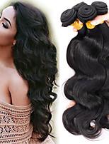 Недорогие -3 Связки Бразильские волосы Естественные кудри человеческие волосы Remy Необработанные натуральные волосы Косплей Костюмы Человека ткет Волосы Сувениры для чаепития 8-28 inch Естественный цвет