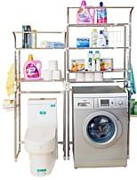 Недорогие -Полка для ванной Регулируемая длина / Складной / С компактным кабелем Современный Нержавеющая сталь + категория А (ABS) 1шт - Ванная комната Установка на полу
