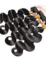 abordables -Lot de 4 Cheveux Brésiliens Cheveux Péruviens Ondulation naturelle 8A Cheveux Naturel humain Cheveux humains Naturels Non Traités Cadeaux Costumes Cosplay Casque 10-28 pouce Couleur naturelle