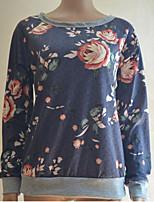 Недорогие -женская футболка - геометрическая / однотонная шея