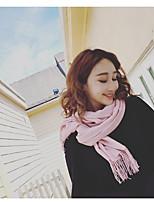 Недорогие -Без рукавов Имитация кашемир Свадьба / Вечеринка / ужин Женские шарфы С С кисточками / Однотонные Шали / Шарфы