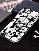 Недорогие -Кейс для Назначение Apple iPhone XR / iPhone XS Max Сияние в темноте / С узором Кейс на заднюю панель Черепа Мягкий ТПУ для iPhone XS / iPhone XR / iPhone XS Max