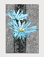 Недорогие -Hang-роспись маслом Ручная роспись - Цветочные мотивы / ботанический Modern Без внутренней части рамки / Рулонный холст