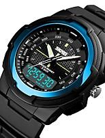 Недорогие -SKMEI Муж. электронные часы Цифровой силиконовый Черный 50 m Защита от влаги Календарь Секундомер Аналого-цифровые На каждый день Мода - Зеленый Синий Розовое золото / Хронометр / Фосфоресцирующий