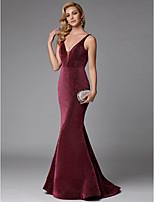 baratos -Sereia Decote em Y Cauda Escova Paetês Brilho & Glitter Evento Formal Vestido com Lantejoulas de TS Couture®