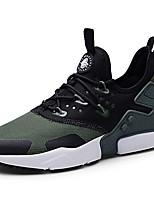 Недорогие -Муж. Комфортная обувь Хлопок Весна & осень На каждый день Кеды Дышащий Контрастных цветов Белый / Черно-белый / Военно-зеленный