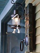 Недорогие -Cool Ретро Настенные светильники В помещении Дерево / бамбук настенный светильник 220-240Вольт