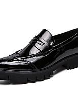 Недорогие -Муж. Комфортная обувь Полиуретан Весна лето Классика Мокасины и Свитер Доказательство износа Черный