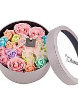 Недорогие -Искусственные Цветы 1 Филиал С узором Стиль Розы / Ваза Букеты на стол